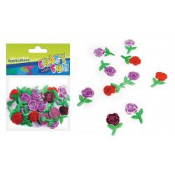 Dekorace látka - Růže/ 30 ks