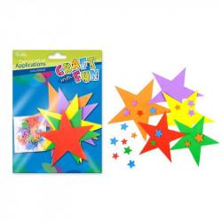 Pěnová dekorace - hvězdy,...