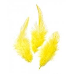Peříčka kohoutí 16ks (žlutá)
