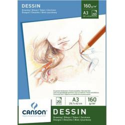 Blok CANSON DESSIN A3 –...