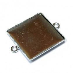 Lůžko čtverec - 17 mm - 2 oka