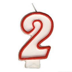 """Svíčka číslová """"2"""", 75 mm"""