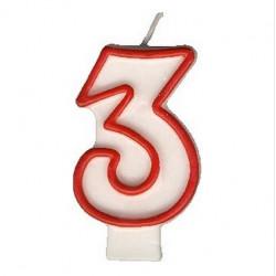 """Svíčka číslová """"3"""", 75 mm"""
