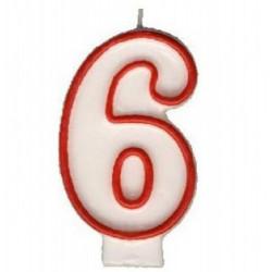 """Svíčka číslová """"6"""", 75 mm"""