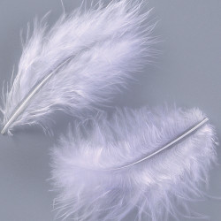 Peříčka Marabu (světle modrá)