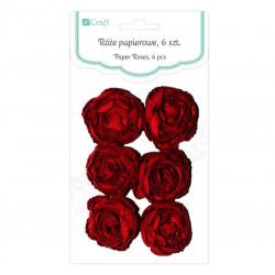 Růže papírové, 6 ks