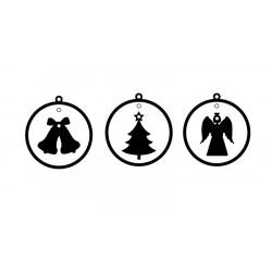 Vánoční ozdoby, sada 2