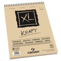 XL Kraft skicák v kroužkové...