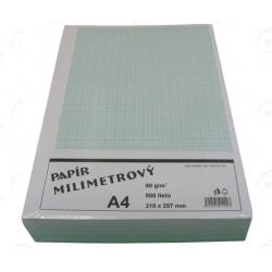 Papír milimetrový A4, 1 ks