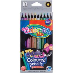 Pastelky metalické - 10 barev