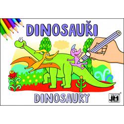 Omalovánky A5, Dinosauři