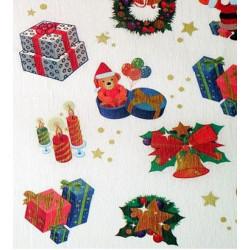 Papír krepový, vánoční motiv